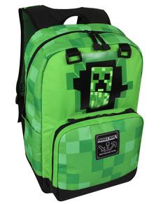 Zelený ruksak Minecraft Creepy Creeper ... c116b6e201