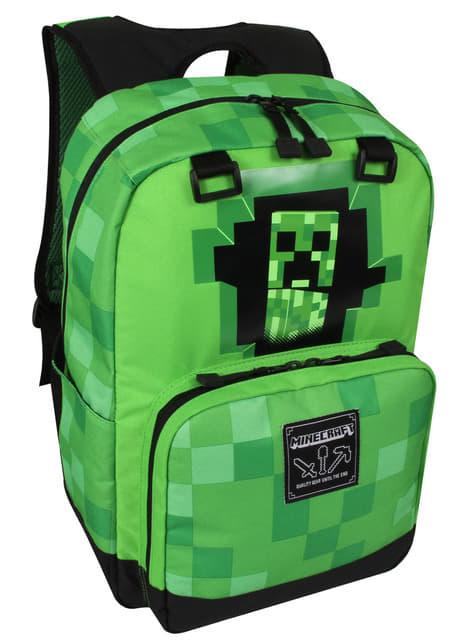 Zielony plecak Minecraft Creepy Creeper