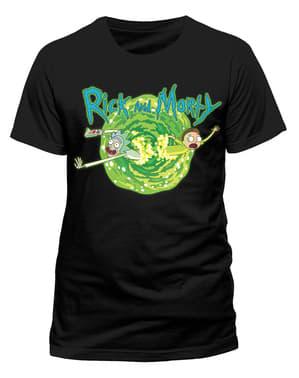 ब्लैक रिक और मोर्टी पोर्टल टी-शर्ट
