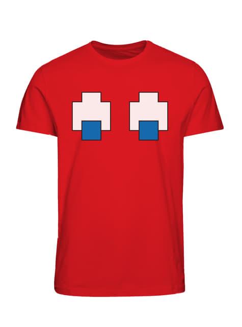 Camiseta Pac-Man retro roja para adulto