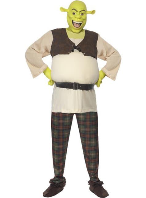 Deluxe kostým Shrek pre dospelých