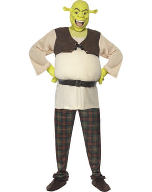 Shrek Kostüm deluxe für Erwachsene