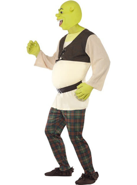Shrek Deluxe Maskeraddräkt Vuxen