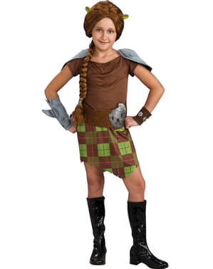 Shrek Fiona Warrior Kids Costume
