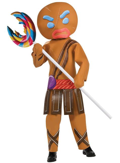 Fato de guerreiro Gingerbread Shrek infantil