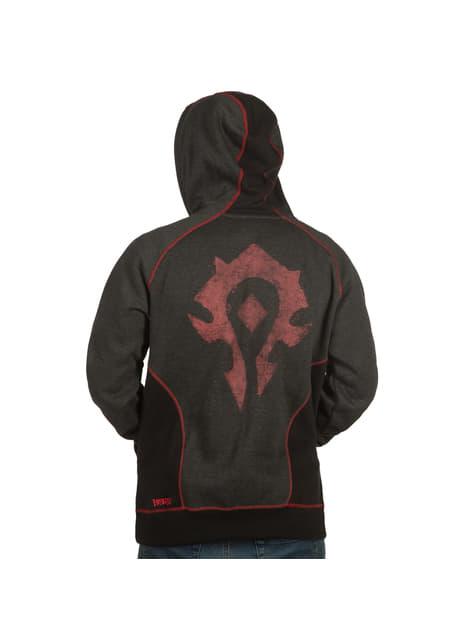 Sweatshirt com fecho de correr de World of Warcraft Horda