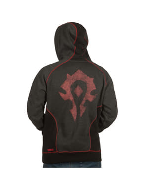 Sweatshirt com fecho de correr de World of Warcraft Horda
