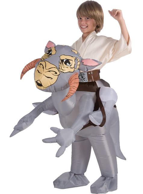 Aufblasbares Tauntaun Kostüm aus Star Wars für Kinder