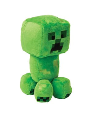 Kleine Minecraft Creeper knuffel 17 cm