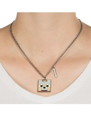 Minecraft Enchanted Wolf necklace