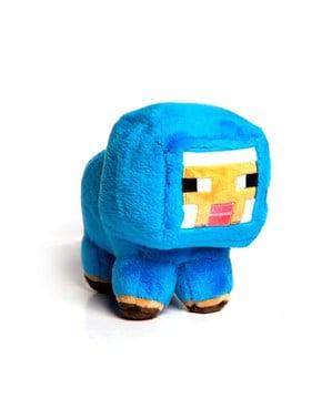 Minecraft नीले बच्चे भेड़ छोटे आलीशान खिलौना 18 सेमी