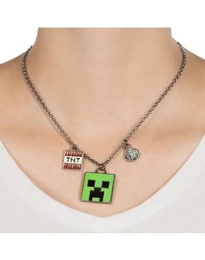 Colar de Minecraft Creeper Encantado