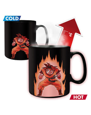 Son Goku mug that changes colour