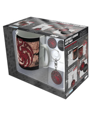 Coffret cadeau Targaryen: tasse, porte-clés, badges - Game of Thrones