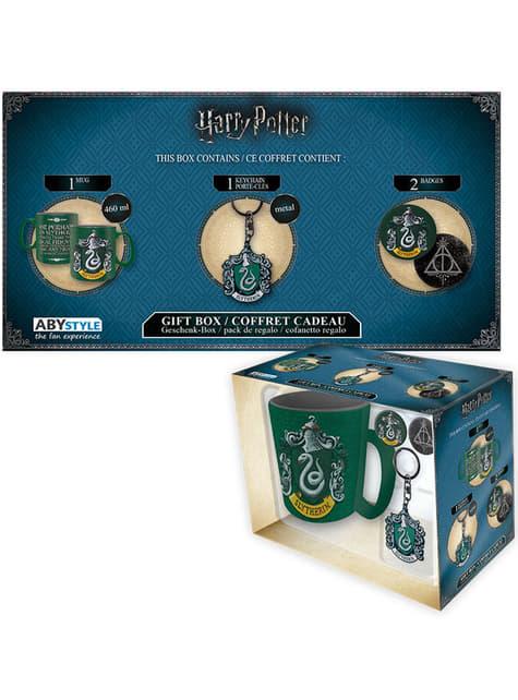Pack regalo Slytherin: taza, llavero, chapas - Harry Potter