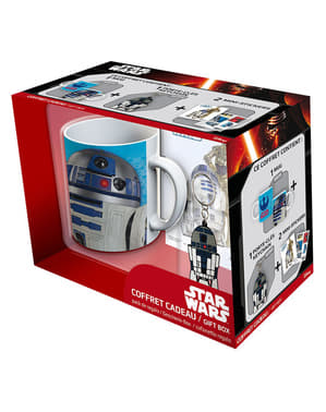 Pack presente R2D2: caneca, porta-chaves e stickers - Star Wars