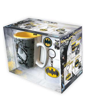 Подаръчен комплект (чаша, ключодържател и значки) - Батман