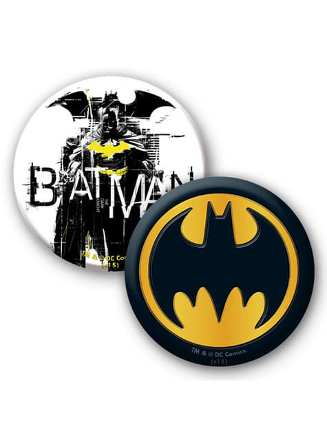 Pack presente: caneca, porta-chaves e crachás - Batman
