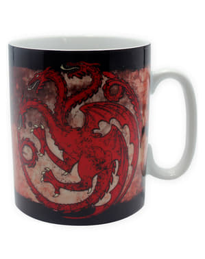 Pack presente Targaryen: caneca, porta-chaves, crachás - Game of Thrones