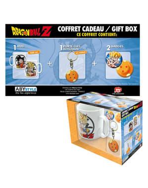 Luxusní dárková sada (hrnek, klíčenka a odznaky) - Dragon Ball