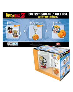 Pack presente deluxe: caneca, porta-chaves, crachás - Dragon Ball