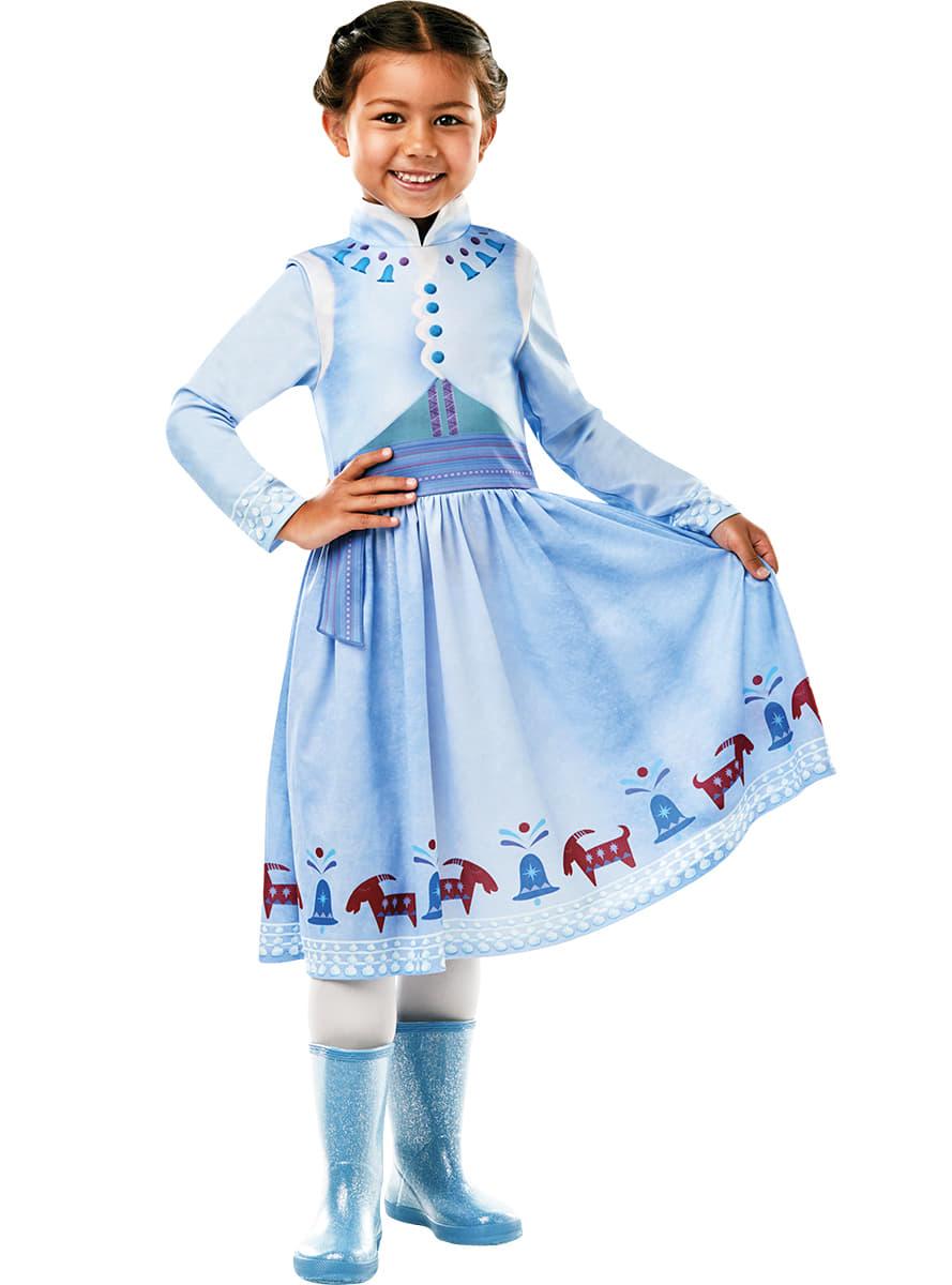 costume anna classic la reine des neiges fille joyeuses f tes avec olaf funidelia. Black Bedroom Furniture Sets. Home Design Ideas