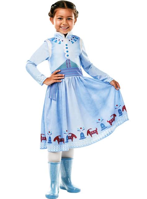 Déguisement Anna classic La reine des Neiges fille - Joyeuses Fêtes avec Olaf