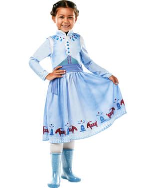 Klassisk Anna Frost kostyme for jenter - Olafs frosne eventyr