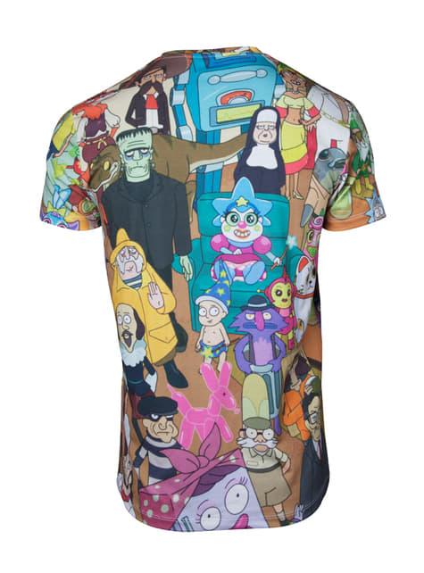 Camiseta de Rick y Morty Printed Allover para hombre