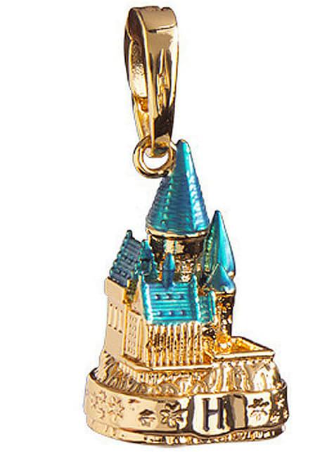 Colgante Castillo de Hogwarts dorado Harry Potter