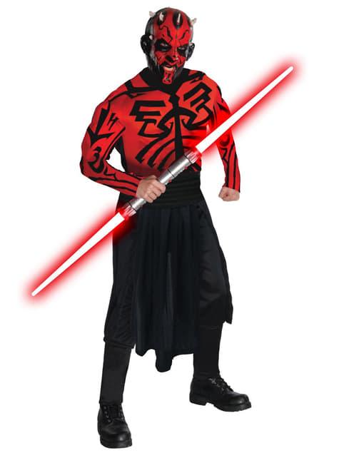 Deluxe Gespierd Darth Maul kostuum
