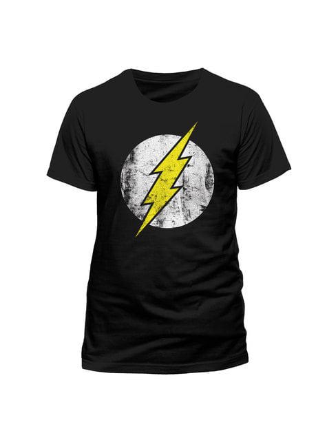 Black Flash Distressed Logo t-shirt
