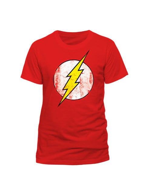 Rotes T-Shirt Flash Vintage Logo