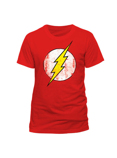 T-shirt de Flash Distressed Logo vermelha