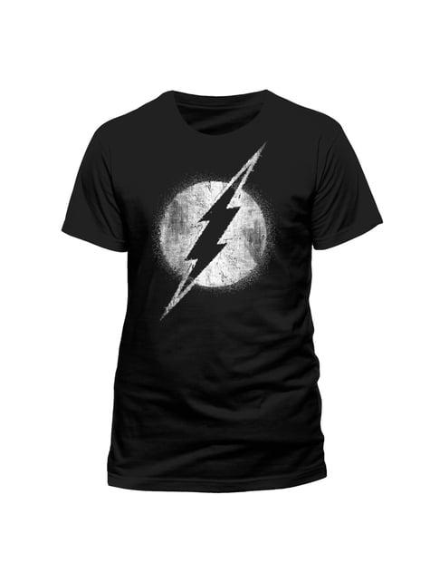 Flash Distressed Logo Black & White t-shirt