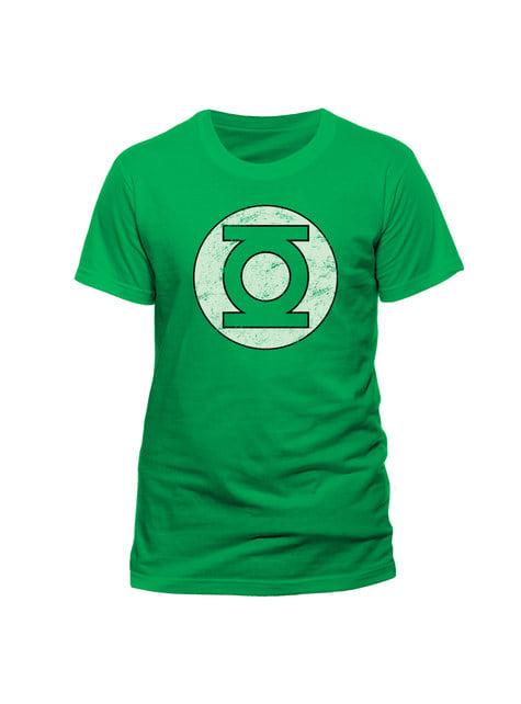 Camiseta de Linterna Verde Distressed Logo para hombre