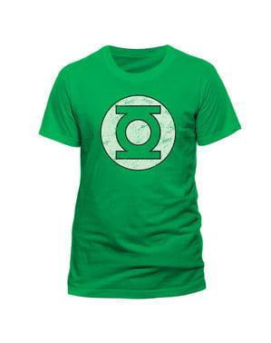 Maglietta di Lanterna Verde Distressed Logo per uomo