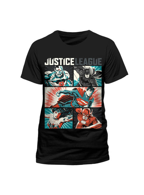 T-shirt de Liga da Justiça Pop Art