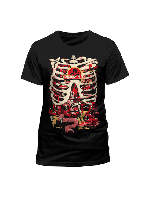 Black Rick and Morty Anatomy Park t-shirt for men