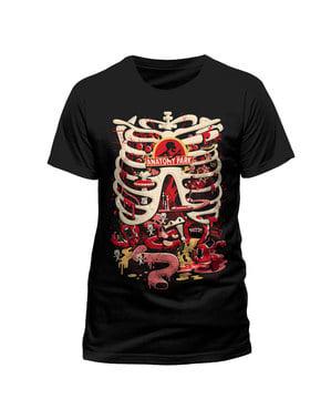 पुरुषों के लिए ब्लैक रिक और मोर्टी एनाटॉमी पार्क टी-शर्ट