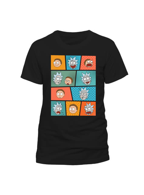 Rick and Morty Pop Art Faces t-shirt