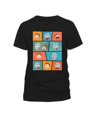 Kaos Wajah Rick dan Morty Pop Art