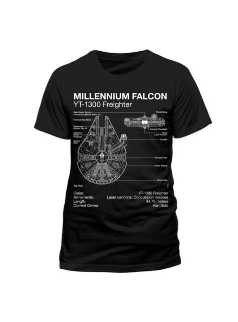 T-shirt do Falcão Milenar Star Wars