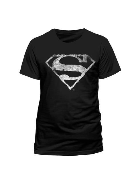 Maglietta Superman Logo Bianco e Nero