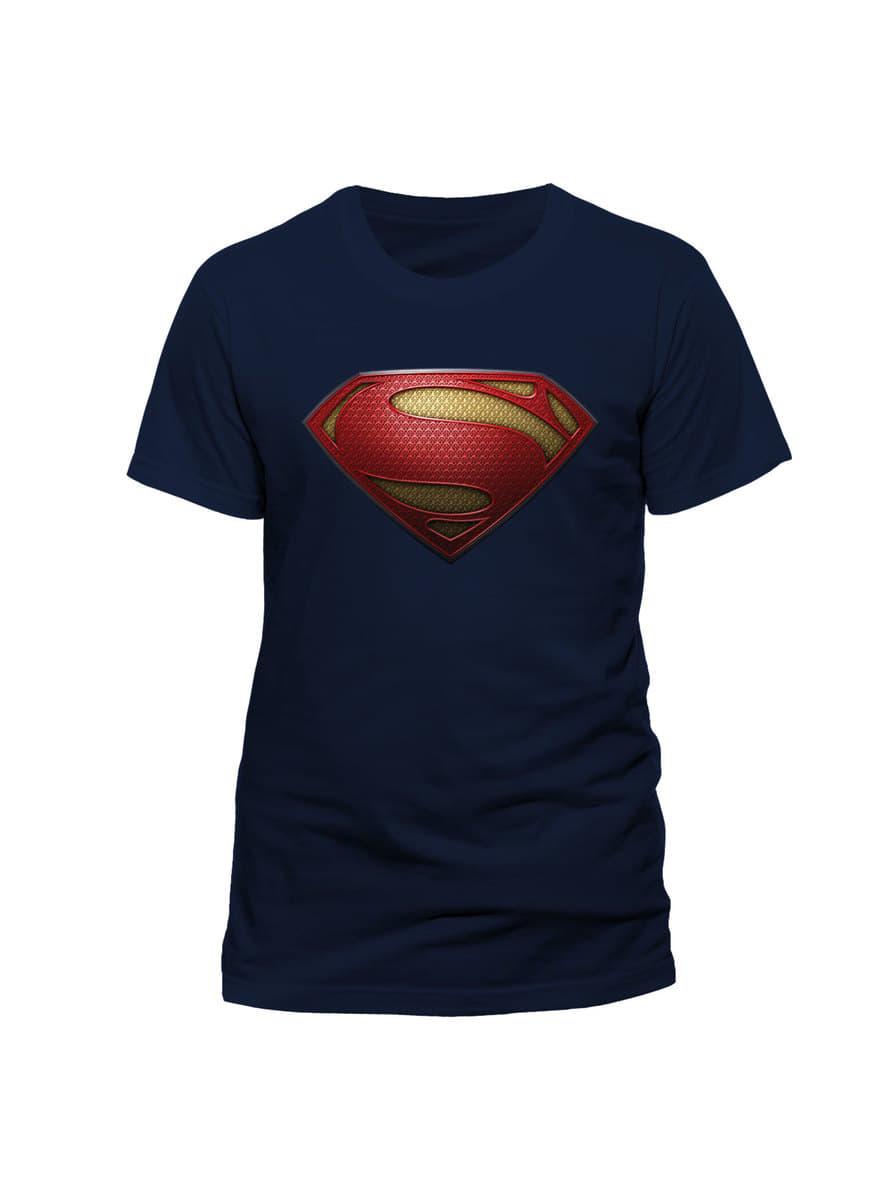 Superman Man Of Steel Logo T Shirt For True Fans Funidelia