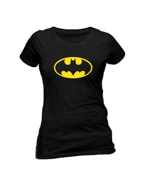 Γυναικεία Κοντομάνικη Μπλούζα με το Κλασσικό Batman Λογότυπο