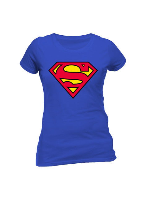 Supermand klassisk logo t shirt til kvinder