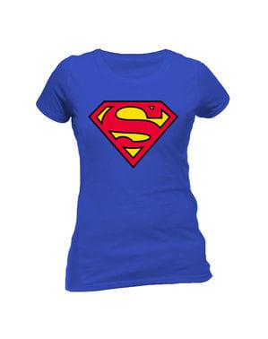 Κοντομάνικη Γυναικεία Μπλούζα με το Κλασσικό Λογότυπο του Superman