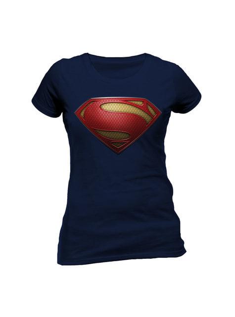 Superman Man of Steel Logo t-skjorte for dame