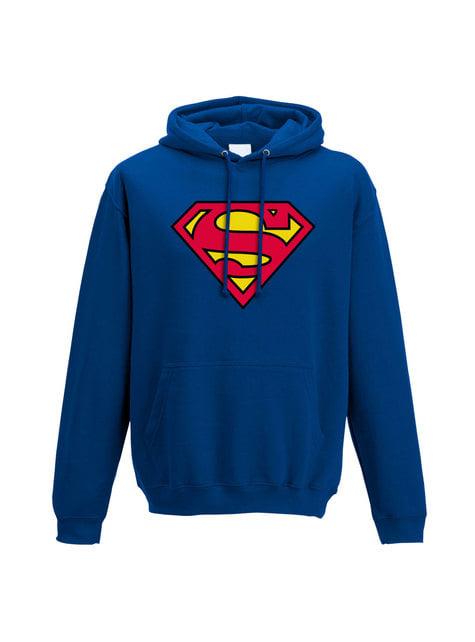 Blue Superman Classic Logo hoodie